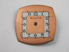 Vintage Bulova Watch Dial Copper/Pearl 21.9mm by 21.8mm New Old Stock