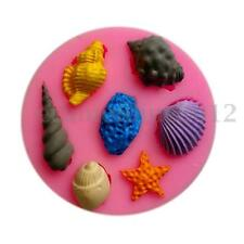 Sea Shells Star Fish Silicone Mold Sugarcraft Chocolate Cup Cake Topper Mould