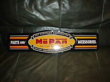 LARGE  CHRYSLER (MOPAR)  PARTS AND ACCESSORIES ADVERTISING  METAL SIGN