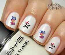 "RTG Set#556 IMAGE ""Jesus True Love"" WaterSlide Decals Nail Art Transfers Salon"