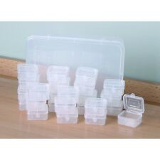 24 Box Snap Shut Storage System Jewelry Screws Beads Nuts