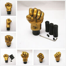 Fist Shape Car Manual/Automatic Knob Gear Shift Head Shifter Lever Stick Golden