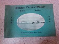 old vintage souvenir views of Windsor Ontario Canada book Dominion series