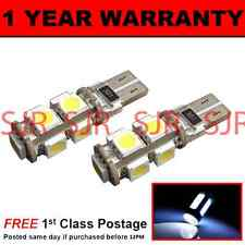 W5W T10 501 CANBUS ERROR FREE WHITE 9 LED INTERIOR COURTESY BULBS X2 IL101701