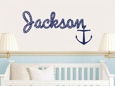 Wall Decal Vinyl Sticker Custom Name Monogram Baby Rope Anchor r1186