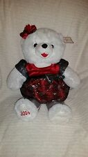 "2014 Snowflake TEDDY BEAR White Girl 13"" black/Red Clothes"
