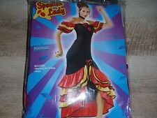 Spanish Lady Dancer Mexican Senorita Flamenco Womens Halloween Costume STD