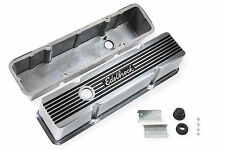 Edelbrock 4263 Elite II Polished Aluminum Tall Valve Covers Small Block Chevy