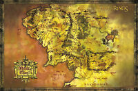 Lord of the Rings poster - Map of Middle Earth - Movie Poster