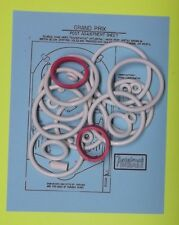 1976 Williams Grand Prix pinball rubber ring kit