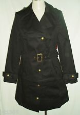 So Fabulous Trench Coats Rain Fully Lined Cotton Macs in Black Size 14
