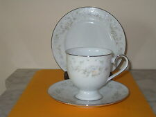 """NORITAKE IRELAND """"PATIENCE"""" #2964 TRIO (CUP, SAUCER + B&B PLATE) 8 available"""