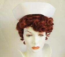 AUTHENTIC NURSE CAP OLD FASHION WHITE UNIFORM COSTUME HAT SMALL PETITE CHILD