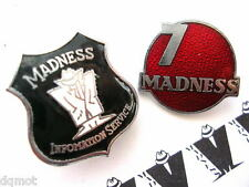 MADNESS - SET OF 2 OFFICIAL MIS FAN CLUB ENAMEL BADGES