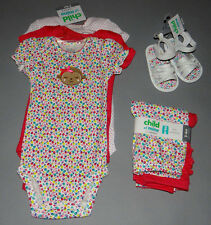 Baby girl clothes, 3-6 months, Child of Mine, 3 bodysuits, 2 pants, shoes