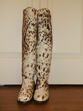 Stuart Weitzman Backup Pony Haircalf Fur Animal Cheetah Leopard Boots 6