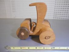 Vintage Hand carved wooden car 6 inch by 6 inch