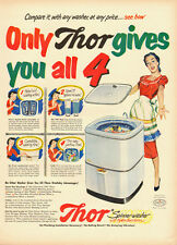 1951 appliance Ad, THOR Spinner-Washer, Hydro-Swirl Action -102713