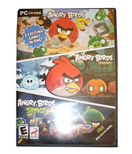 ANGRY BIRDS PC CD-ROM 3 exciting games in one! - FREE SHIPPING
