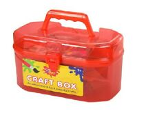Craft Case Box supplies accessories creative play Toy glue scissors beads