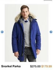 NWT Banana Republic Blue Snorkel Parka Jacket, sz Medium