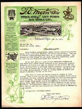 T E Myers Bros Force and Lift Pumps Hay Tools Ashland Ohio 1915 Color Letterhead