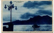 1932 Intra Lago Maggiore Un tramonto Guler destinazione Lucca FP B/N VG