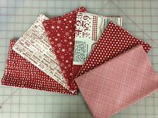 Moda Sweetwater Cookie Exchange Christmas Fabric Fat Quarter Bundle in Red