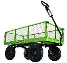 800 Lb. Steel Utility Garden Cart Tow Behind Wagon Heavy Duty Yard Lawn Hauling