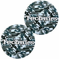 Slipmats Technics Mimetico Army Blu marino (1 Paio / 1 Coppia) NUOVO + ORIGINALE