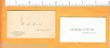 6314 Calling & business cards c 1880 W H Kimball, V. H Hill, Concord NH embossed