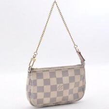 Authentic  Louis Vuitton Damier Azur Mini Pochette Accessoires N58010 #SS361 +