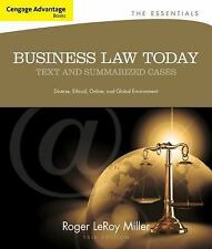 Cengage Advantage Books: Business Law Today, The Essentials: Text and Summarized