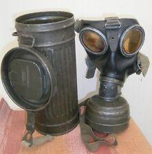 WW2 - WWII - Original Wermacht Germany Gas Mask + Canister