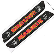 Pair of Custom Marines USMC Saddlebag Latch Reflector Decals for Harley