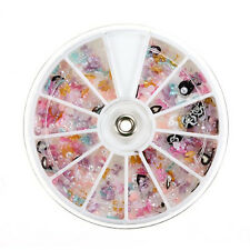 Nail Decor Jewelry wheel Carousel Flower Knot Pearl Glitter Nail Art  LW
