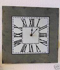 Wanduhr Küchenuhr Wand Küchen Uhr Metall Landhaus Nostalgie Shabby 30x30cm  535