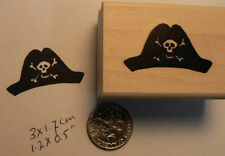 Pirate hat rubber stamp WM