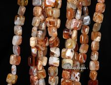 10MM FLOWER OPAL GEMSTONE GRADE AA BROWN PERFECT SQUARE 10MM LOOSE BEADS 7.5""