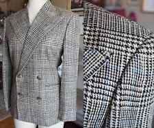 New sz 6 Ralph Lauren Purple Label Collection jacket coat plaid black white
