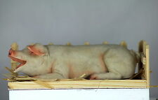 """PIG IN STY, 10""""Inch (25cm), WOODEN STY, Great Collector's FARM Set for Pig Fans"""