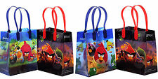 6 Pcs Angry Birds Licensed Small Party Favor Goodie Loot Bags