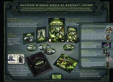 World of Warcraft Legion Collector's Edition NEW SEALED