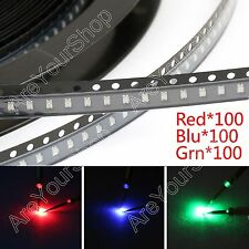 300Pcs 0805 (2012) SMD LED Red Green Blue 3Colours Ligero Diodes Emitting Kit