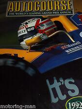 Autocourse 1992 93 Ayrton Senna Monaco Japón Nigel Mansell Williams FW13 Patrese