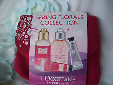 L'OCCITANE SPRING FLORALS GIFT SET . ROSE / CHERRY BLOSSOM HAND CREAM & SHOWER