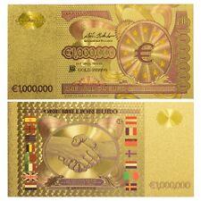 BILLETE MILLON 1000000 EUROS REPLICA ORO GOLD 24K CON COLOR NUEVO!!!