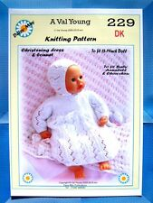 """1 DOLLS KNITTING PATTERN  for  Annabell  No 229 by Daisy-May 17""""-19"""" doll"""