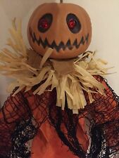 Hanging Scarecrow Halloween Decoration With Flashing Red Eyes