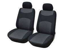 Cloth Fabric Semi-Custom 2 Car Seat Covers Compatible to Chevrolet 860 Black